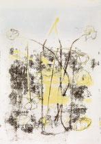 Blumen in Vase 4, 2015, 60 x 42 cm, printing ink on paper on wood