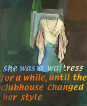 she was a waitress, 2003, 170 x 140 cm, oil on canvas