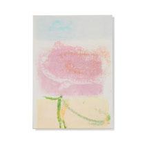 Blume 1, 2014, 30 x 21 cm, printing ink on paper on wood