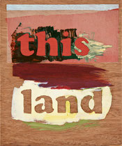 this land 2, 2010, 27 x 23 cm, oil on wood