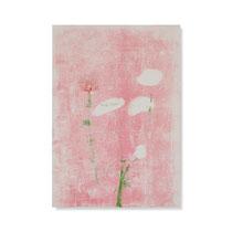 Ranunkeln 1, 2014, 60 x 42 cm, printing ink on paper on wood