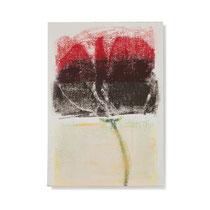 Blume 2, 2014, 30 x 21 cm, printing ink on paper on wood