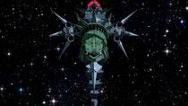 Bizarre Sci-Fi-Klassiker-Hommage: Das Schlachtschiff von Space-Dandy-Nemsis Dr. Gel