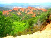 Les site de Las Medulas près de Pontferrad (Espagne)