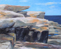 "Atlantic Path@ Phillips Ave Footpath Horizon North, 8x10"" Oil on canvas board"