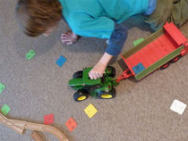 Mit dem Traktor unterwegs....