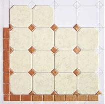 Details: Octagonal Miniature Marble Tiles