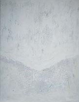 white coat - manto blanco   técnica mixta sobre lienzo 116 x 89 cm