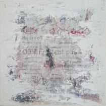 nostalgia  técnica mixta y collage sobre lienzo 50 x 50 cm