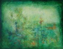 verde - el color de la esperanza - técnica mixta sobre lienzo -  114 x 146 cm     - vendido/sold