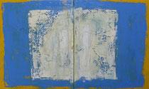 LAS NIÑAS DEL BARRIO                                díptico 61 x 100 cm