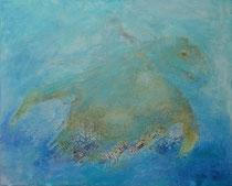 Olivia  - la tortuga rescatada     81 x 100 cm