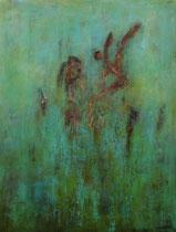 the adventure of the leap to freedom - la aventura del salto hacia la libertad     146 x 114 cm