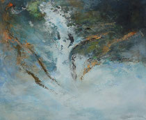 Fluyendo lejos - Flowing away        54 x 65 cm
