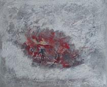 hidden feelings -sentimientos ocultos técnica mixta y collage sobre lienzo 60 x 73 cm