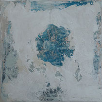 the discovery - el descubrimiento técnica mixta sobre lienzo  50 x 50 cm