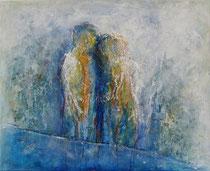 AMOR EN TINTE AZUL  81 x 100 cm      - vendido/sold