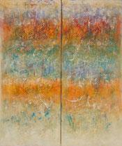 LA LUZ DEL MEDITERRÁNEO                  díptico  195 x 162 cm         - vendido/sold