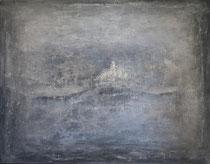 grey landscape - paisaje gris       114 x 146 cm  - vendido/sold