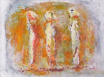 TRES MUJERES ANDANDO  24 x 33 cm                - vendido / sold -