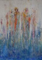 RELACIONES Y ATADURAS    162 x 114 cm  - vendido/sold