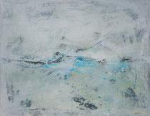 flow of time - el flujo del tiempo  técnica mixta sobre lienzo 114 x 146 cm