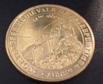 La médaille souvenir du Château de Peyrepertuse de la monnaie de Paris au tarif de 2 €