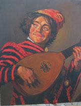 """""""le joueur de luth"""" copie d'après Franz Hals,"""