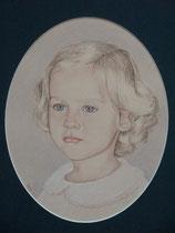 Zoè, crayons pastel sur papier, 30/40 cm, 2000