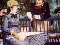 """""""la serre"""", copie d'après Manet, 75/98 cm, 1996"""