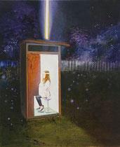 Maria's Empfängnis, 60 x 50 cm, Oil on canvas, 2015