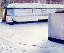 Camperwinter, 50 x 60 cm, Oil on canvas, 2009