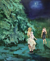 Mondsüchtig, 120 x 100 cm, Oil on canvas, 2015