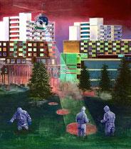Suche, 170 x 150 cm, Oil on canvas, 2011