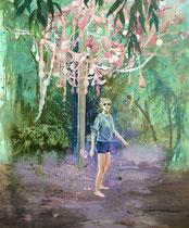 36 Stunden tanzen, 120 x 100 cm, Oil on canvas, 2015