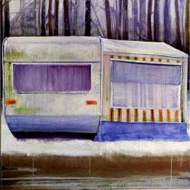 Zusammenstehen, 75 x 75 cm, Oil on canvas, 2009