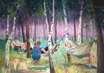 Bachstelzenarea, 120 x 160 cm, Oil on canvas, 2013