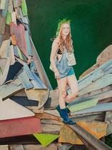 Dockville, 160 x 120 cm, Oil on canvas, 2018