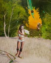Tanzwüste, 160 x 130 cm, Oil on canvas, 2016