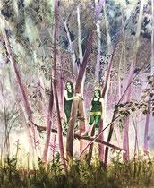 Purple Tree, 120 x 100 cm, Oil on canvas, 2015