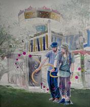Schnitter, 120 x 100 cm, Oil on canvas, 2019