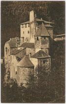 Burg TAUFERS in Sand. Heliogravüre 9x14cm; Verlag Josef Kostner, Sand in Taufers postalisch gelaufen 1914.  Inv.-Nr. vu914hg00021