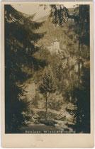 Schloss WIESBERG in Tobadill bei Landeck. Gelatinesilberabzug 9x14cm; Theo K. Pies, St. Anton am Arlberg 1928.  Inv.-Nr. vu914gs00195