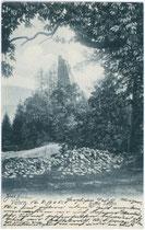 Ruine der Burg SALERN aus dem 13. Jh. in Vahrn. Lichtdruck 9x14cm; kein Urhebernachweis.  Inv.-Nr. vu914ld00071