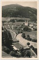Schwimm- und Sonnenbad an der Sill in Steinach am Brenner, Bezirk Innsbruck-Land, Tirol. Gelatinesilberabzug 9 x 14 cm; Impressum: Much Heiss' (gest. 1940) Nachf. vor 1945.  Inv.-Nr. vu914gs01191