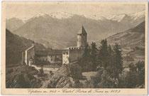 Burg SPRECHENSTEIN in Freienfeld. Lichtdruck 9x14cm; B. Lehrburger, Nürnberg; postalisch gelaufen 1932.  Inv.-Nr. vu914ld00084
