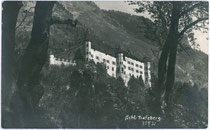 "Schloss TRATZBERG in Stans bei Schwaz. Gelatinesilberabzug 9 x 14 cm; kein Impressum, handschriftl. dat. ""18. August 1924"".  Inv.-Nr. vu914gs00456"