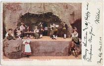 TYROLEAN ALPS - Dining at Luchow-Faust Restaurant (Official Souvenir Worlds Fair St. Louis 1904). Farbautotypie 9x14cm; Samuel Cuppels, St. Louis.  Inv.-Nr. vu914fat00054