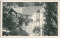 """Villa """"Fichtenhof"""" in Igls. Gelatinesilberabzug 9 x 14 cm; Impressum: Carl Michel, Igls um 1930.  Inv.-Nr. vu914gs00252"""