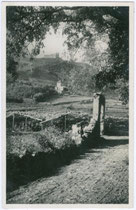 Burgen KORB und BOYMONT in Missian, Gemeinde Eppan. Gelatinesilberabzug 9x14cm; kein Impressum, um 1935.  Inv.-Nr.vu914gs00117